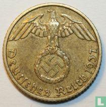 Duitse Rijk 5 reichspfennig 1937 (F)