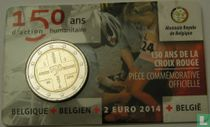 """Belgium 2 euro 2014 (coincard - FRA) """"150th anniversary of the Red Cross"""""""