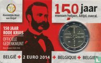"""Belgium 2 euro 2014 (coincard - NLD) """"150th anniversary of the Red Cross"""""""