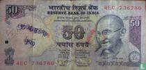 India 50 Rupees 2011