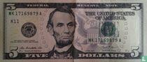 Verenigde Staten 5 dollars 2013 K
