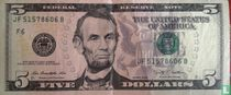 Verenigde Staten 5 dollars 2009 F