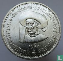 "Portugal 20 escudos 1960 ""Fifth centenary of the death of Prince Henry the Navigator"""