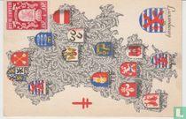 Provinciewapens Op Postkaart