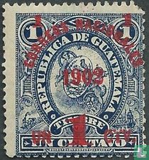 Telegraafzegels met opdruk Correos Nacionales