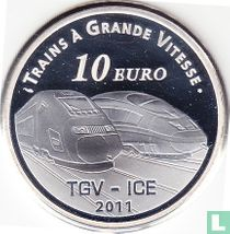 "France 10 euro 2011 (PROOF) ""Metz TGV station"""