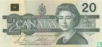 Canada 20 Dollars 1991