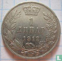 Servië 1 dinar 1912