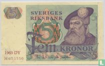 Schweden 5 Kronor 1969
