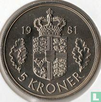 Denemarken 5 kroner 1981