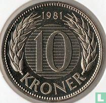 Denemarken 10 kroner 1981