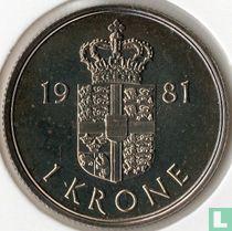 Denemarken 1 krone 1981