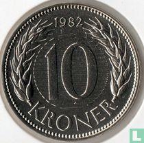 Denemarken 10 kroner 1982