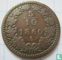 Austria 5/10 kreuzer 1860 (A)