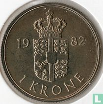 Denemarken 1 krone 1982