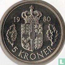 Denemarken 5 kroner 1980