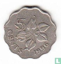 Swaziland 5 cents 1996