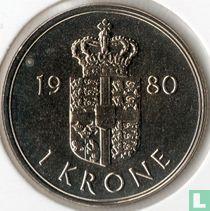 Denemarken 1 krone 1980