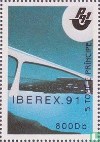 Postzegeltentoonst.  Iberex 91