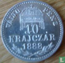 Hongarije 10 krajczar 1888