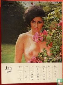 Harrison Marks' 12 page colour calendar of Magnificent Monique 1969