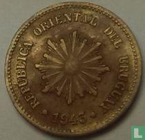 Uruguay 2 centésimos 1943