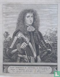 JUAN DOMINICO de ZUNIGA en FONSECA, &. Gravure van Montery, Gouverneur en Opper Velt-heer der Sapense Neederlanden en Bourgondien.
