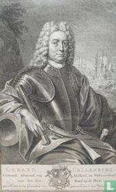 GERARD CALLENBURG, Luitentant Admiraal van Holland en Westvriesland voor den Zee-Raad op de Maze, geboren den 8 van Grasmaand 1642. gestorven den 8 van Wynmaand 1722.