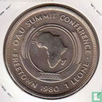 "Sierra Leone 1 leone 1980 ""OAU summit conference"""
