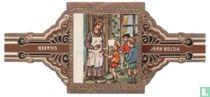 De kinderen komen bij het huisje van de reus