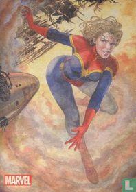 Captain Marvel by Milo Manara foil insert MM7