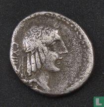 Romeinse Republiek, AR Denarius, 90 BC, L.C. Piso L.F. Frugi, Rome