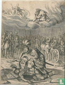 Aeneas doodt Turnus in het tweegevecht