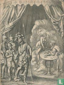 Klassieke voorstelling met een offerande