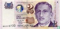 Singapore 2 Dollars 1999