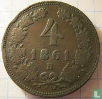 Austria 4 kreuzer 1861 (B)