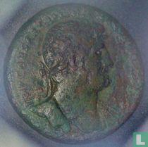 Romeinse Rijk, AE Sestertius, 117-138 AD, Hadrianus, Rome, 121-122 AD