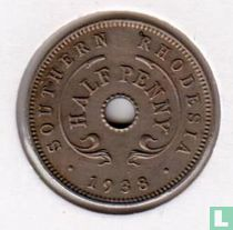 Zuid-Rhodesië ½ penny 1938