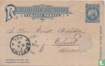 Briefkaart Wapen in cirkel - 9 Sterren