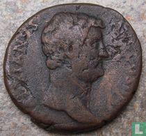 Romeinse Keizerrijk AE As Hadrianus 134-138 n. Chr.