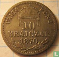 Hongarije 10 krajczar 1870 (KB)