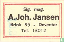 Sig. Mag. A. Joh. Jansen