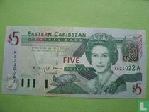 Oost. Caraïben 5 Dollars Antigua