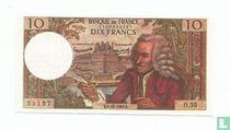 Frankrijk 10 Francs (Senator sigaren)