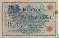 Reichsbanknote, 100 Mark 1908 (P33b)
