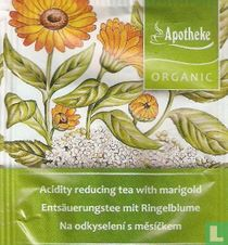 Acidity reducing teas with marigold