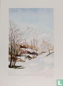 Vue dans les Alpes