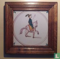 Tegel - Ruiter te paard met lans - Tichelaar