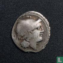 Romeinse Rijk, AR Quinarius, na 211 BC, anoniem, Onbekende muntplaats