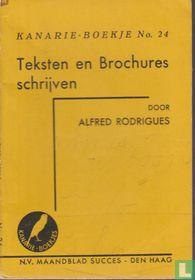 Teksten en brochures schrijven